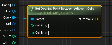 Get Opening Point Between Adjacent Cells