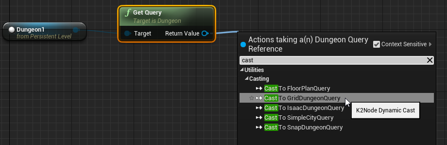 Query interface from other blueprints